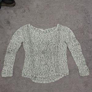 Free People Grey Knit Oversized Sweater